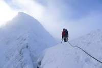 winter scottish climbing, ben nevis